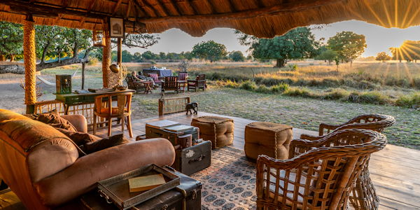 camp[ luxeux dans le lower zambezi