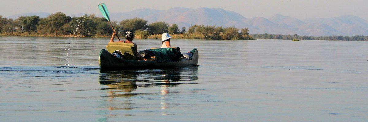 Safari en canoë sur le Zambèze en itinérance