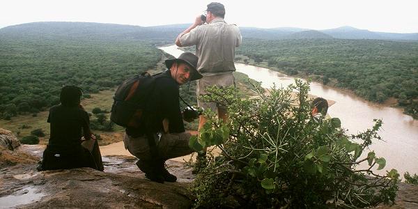 point d'observation sur la riviere white imfolozi
