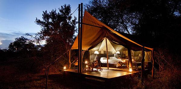 camp de safari luxueux dans le parc kruger