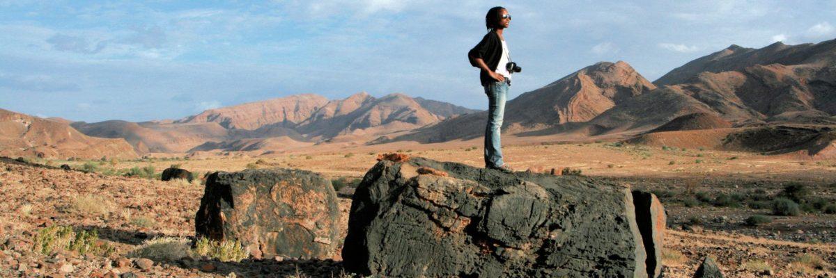 Paysage dans la région aride du Ritchersveld en Afrique du sud