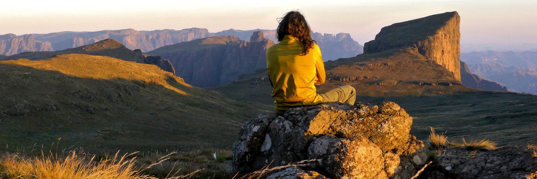 lever de soleil sur North Peak - drakensberg