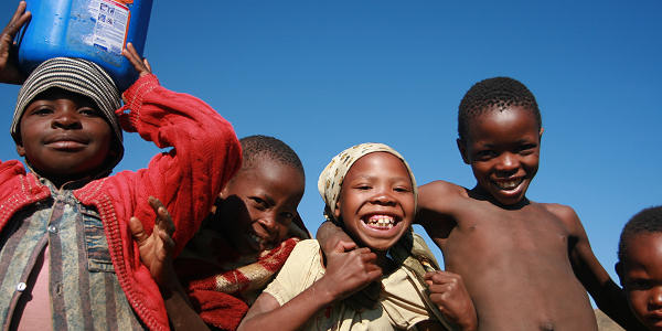 Kids in Lesotho village